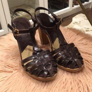 Michael Kors Leather T-Straps